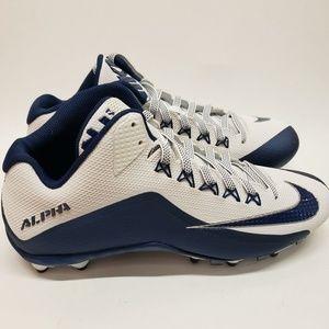 Nike Blue White Alpha Pro 3/4 Football Cleats